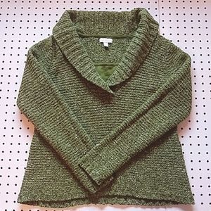 Charter Club Green Heavy Knit Sweater, Size Large